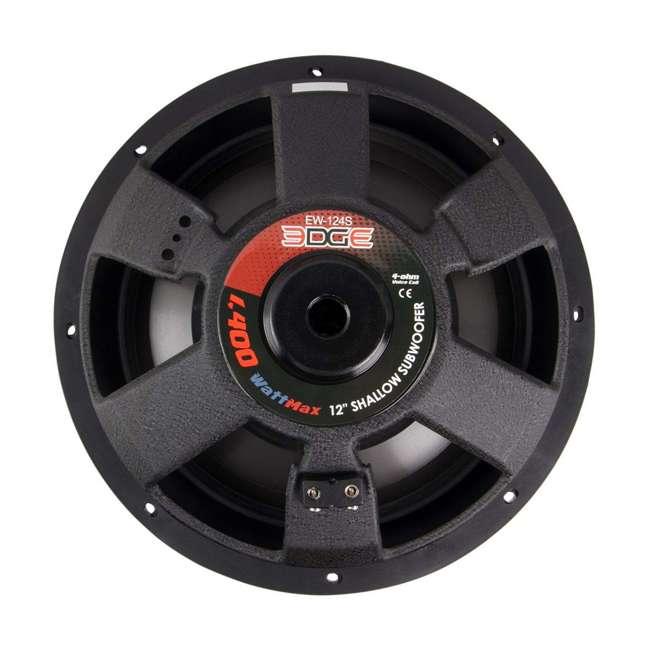 "EW-104S Power Acoustik 10"" Powerful 600W RMS Shallow Car Subwoofer Loud Speaker, Black 3"