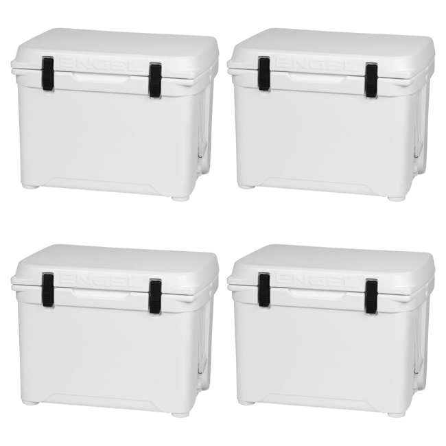 4 x ENG50 Engel 50 High-Performance Roto-Molded Cooler, White (4 Pack)