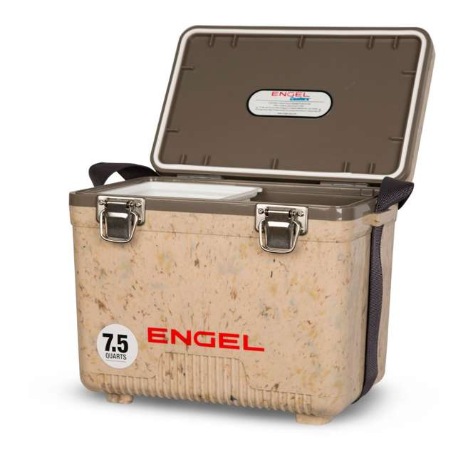 UC7C1 Engel 7.5-Quart EVA Seal Ice and DryBox Cooler with Carry Handles, Grassland 1