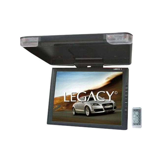legacy lmr15 1 15 inch flip down roof mount monitors pair. Black Bedroom Furniture Sets. Home Design Ideas