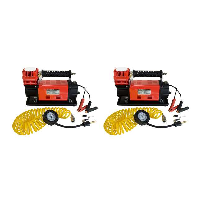 MV-90 SuperFlow MV-90 Portable 45-Amp Battery-Powered Air Compressor (2 Pack)