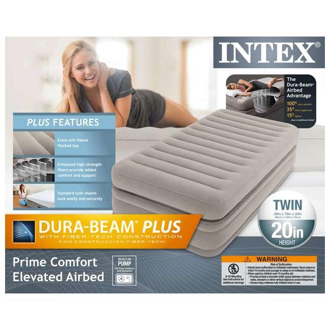 3 x 64443E-U-A Intex Prime Comfort Elevated Twin Airbed w/ Built-In Pump (Open Box) (3 Pack) 4