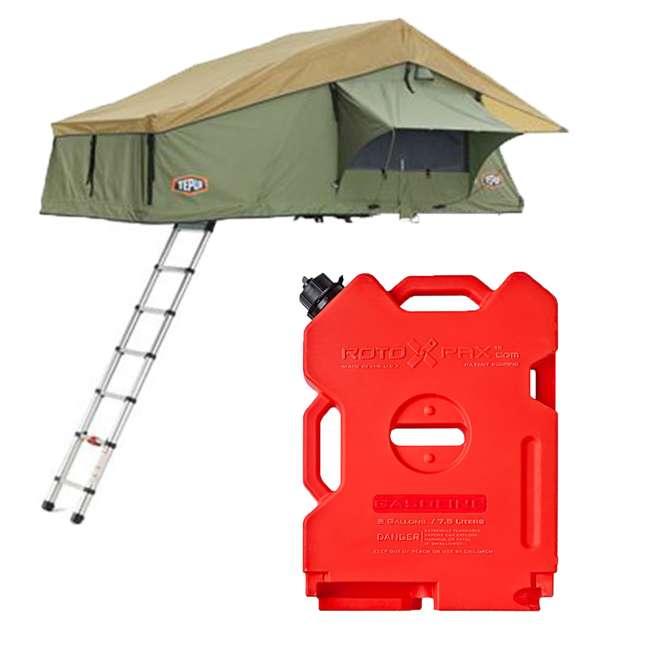 01ASK051601 + RX-2G Tepui Explorer Autana 3 Person Car Camp Roof Top Tent & 2-Gallon Gas Container