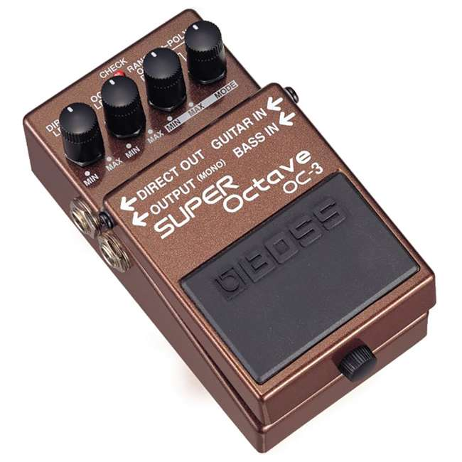 4 x OC-3 Boss OC-3 Electric Guitar Dual Super Octave Guitar Pedal, Brown (4 Pack) 1