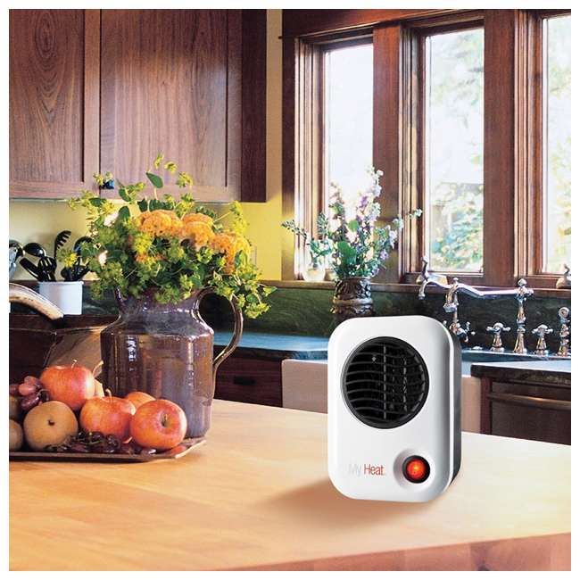 LKO-101-TN Lasko 101 MyHeat Portable Personal Electric 200W Ceramic Space Heater, White 2