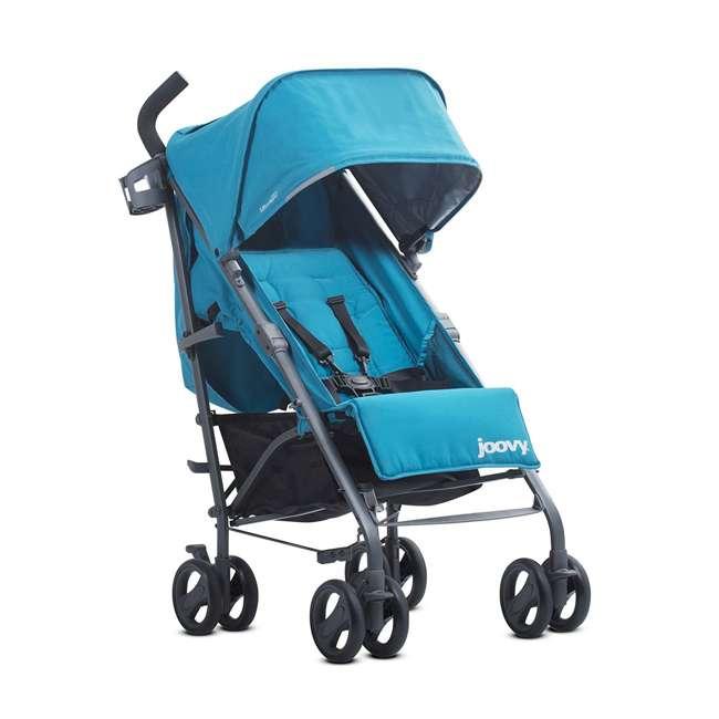 JVY-8120 Joovy Groove Ultralight Compact Canopy Umbrella Stroller, Turquoise 3