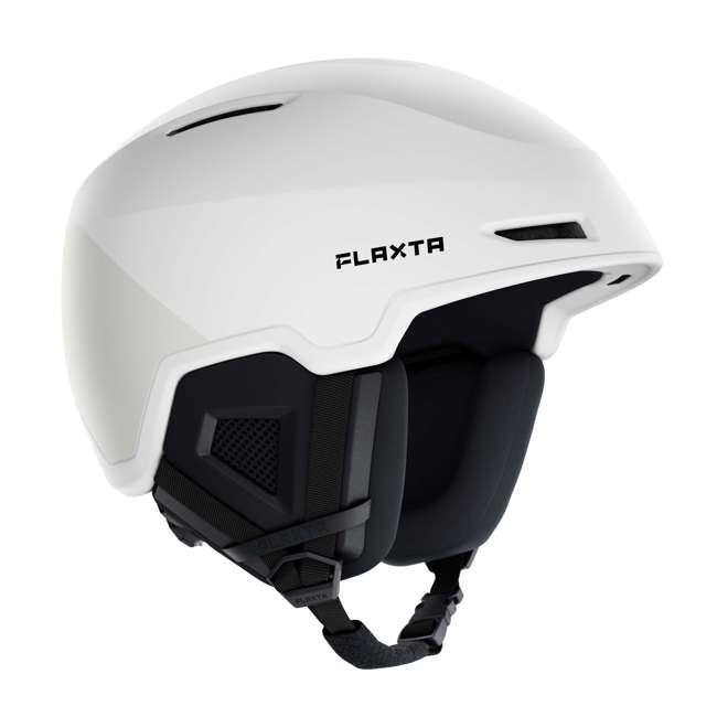 FX901102072SM Flaxta Exalted Protective Ski and Snowboard Full Helmet Small/Medium Size, White 1