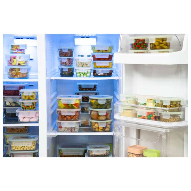 12012-18 PC-OVEN Glasslock Oven and Microwave Safe Glass Food Storage Containers 18 Piece Set 3