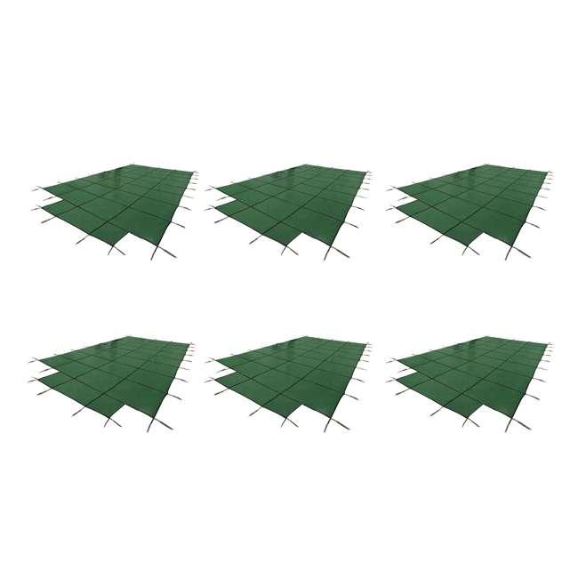 6 x DG204058S Yard Guard 20 x 40 Feet w/ 8 Feet Center End Steps Pool Cover, Green (6 Pack)
