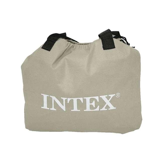 67737E-WMT Intex Deluxe Raised Pillow Rest Air Mattress with Built-In Pump, Queen 5