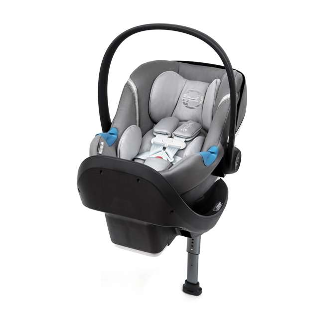 518002095 Cybex Aton M Newborn Infant Baby Car Seat with SafeLock Base, Manhattan Gray