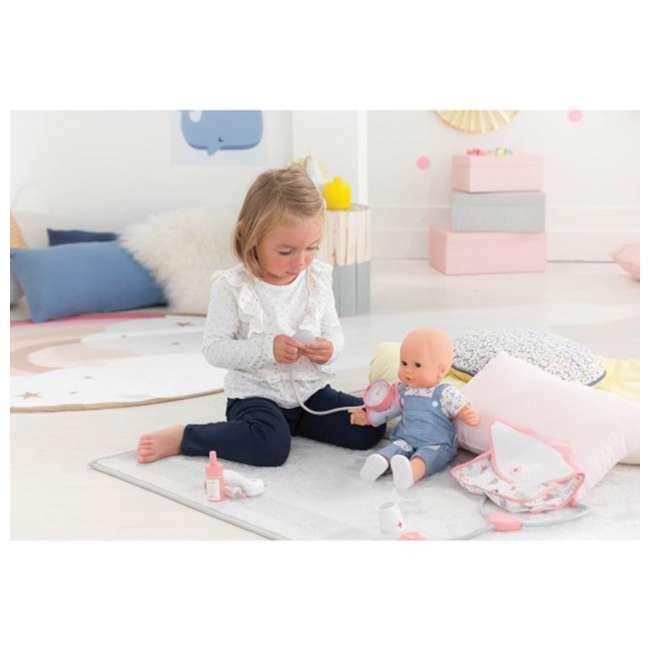 FRV09 + 100130 Corolle Mon Grand Poupon Toy Pediatrician Doctor Set w/ Waterproof Baby Doll 5