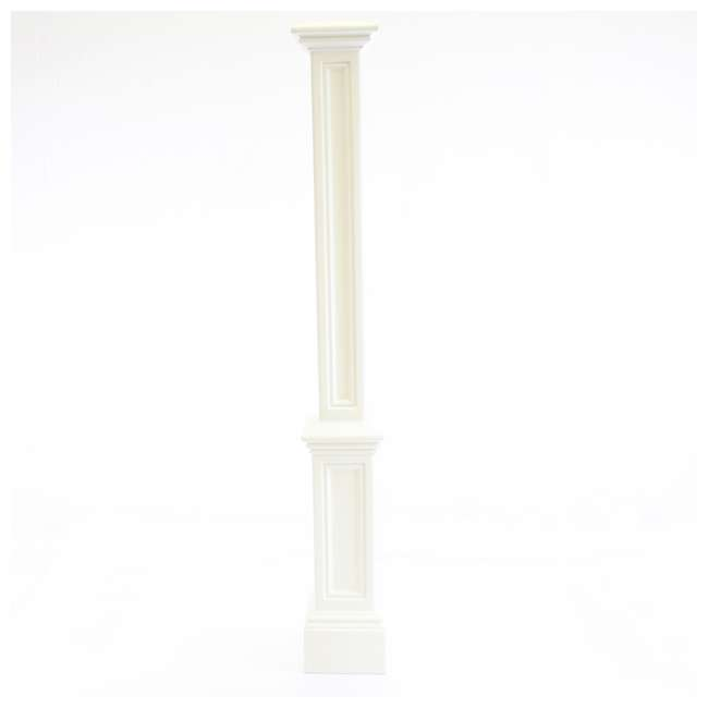 MO-5835-B Mayne 6 Foot Plastic Outdoor Signature Lamp Post with Steel Ground Mount, Black 4