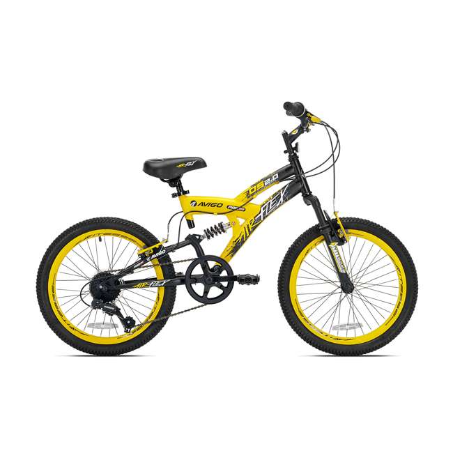 42084 Kent Bikes Avigo Air Flex 20-Inch Boys BMX Bike, Yellow