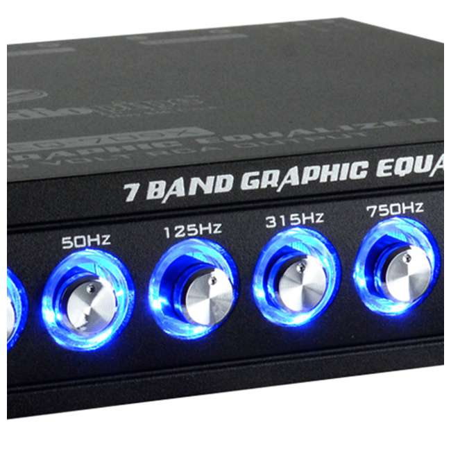 4 x EQ-909X Audiopipe EQ-908X 9-Band Parametric Car Audio Equalizer (4 Pack) 3