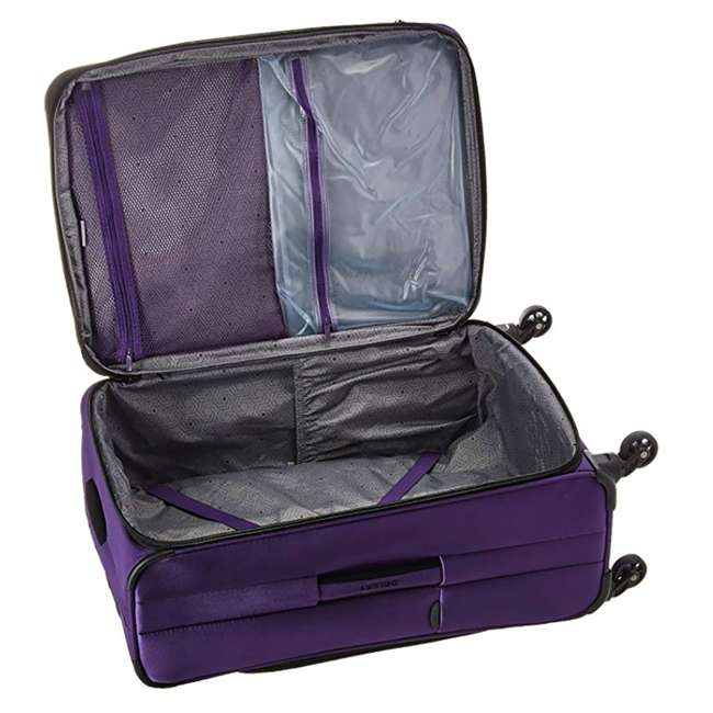 """40328282008 DELSEY Paris Sky Max 25"""" Expandable Spinner Softside Travel Luggage Case, Purple 4"""