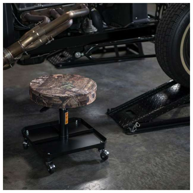 TOR-TR6350MO Torin Big Red Rolling Pneumatic Creeper Padded Stool, Camo (2 Pack)