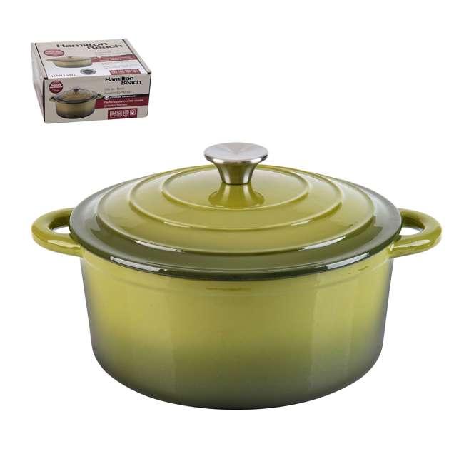 HAR101G + HAR113G Hamilton Beach Dutch Oven Pot & Sauce Pan, Green 2