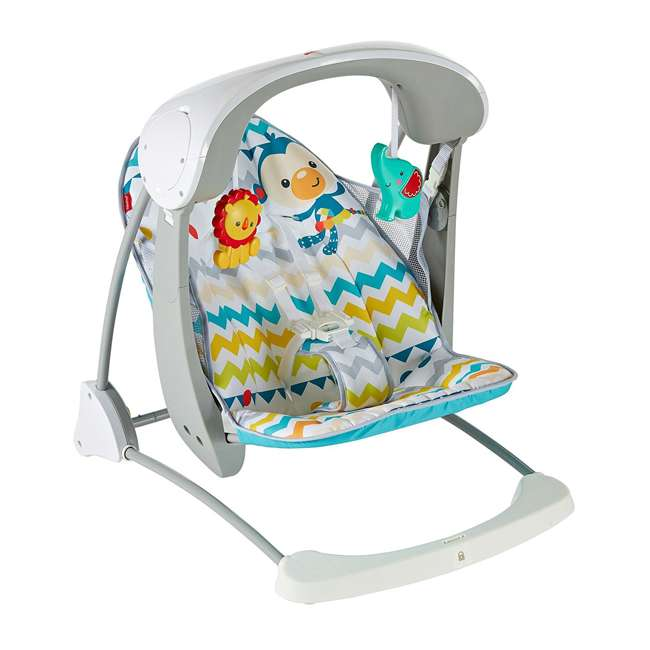 DPV46 Fisher Price Colorful Carnival Take-Along Infant Swing and Seat (2 Pack) 1