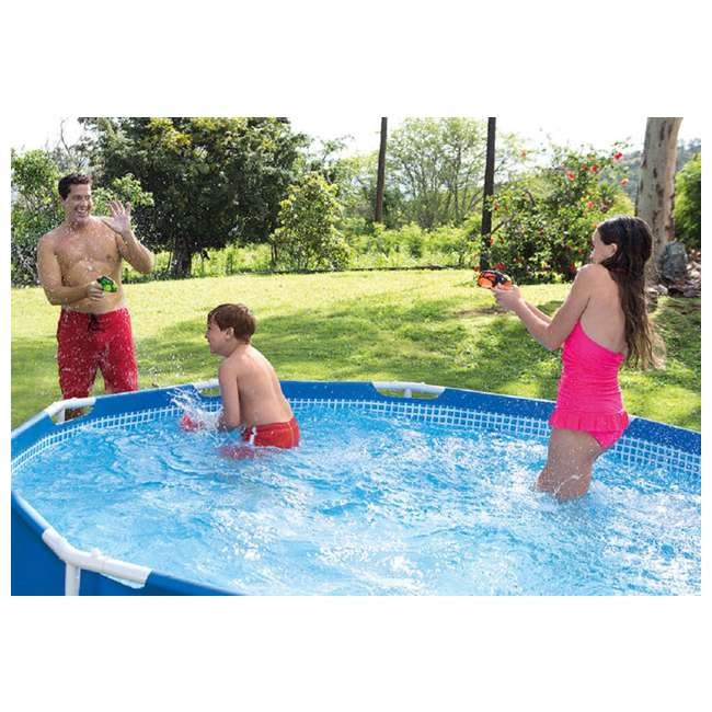 28211EH-U-A Intex 12 x 2.5 Foot Metal Frame Above Ground Pool and Filter (Open Box) (2 Pack) 7