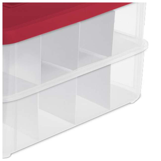 4 x 14276604-U-A Sterilite 24 Compartment Christmas Ornament Storage Box (Open Box) (4 Pack) 3