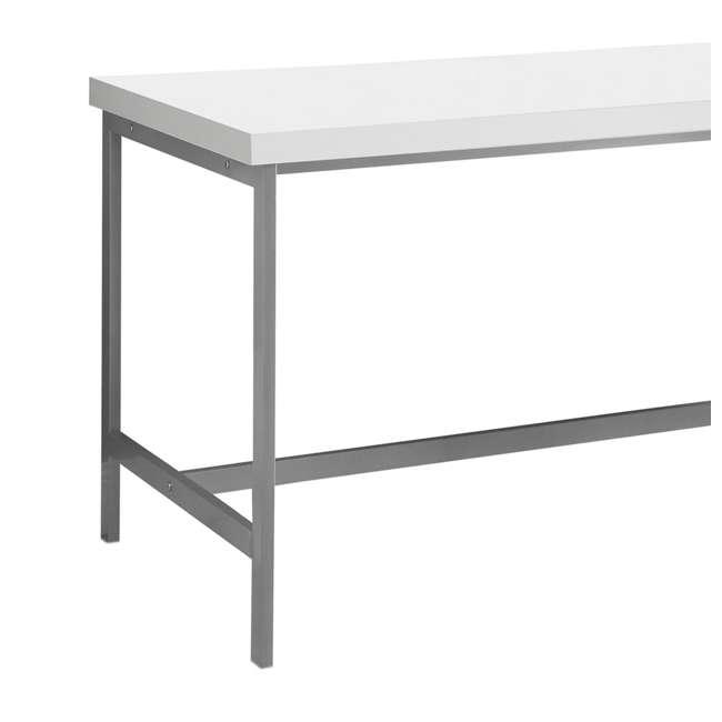 "MS-VM7046-U-A Monarch Specialties 60"" Contemporary Computer Desk w/ Drawers, White (Open Box) 4"
