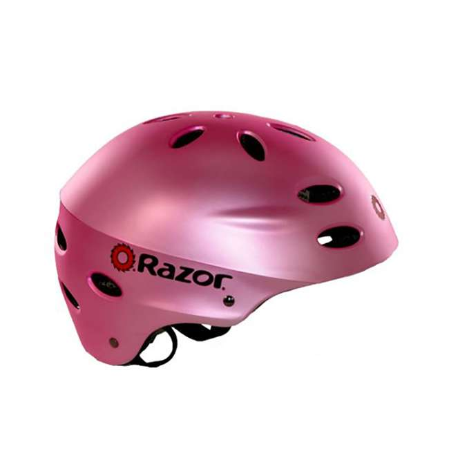 15130659 + 97783 + 96761 Razor Electric Retro Kids Scooter, Pink w/ Youth Sport Helmet, Elbow & Knee Pads 8