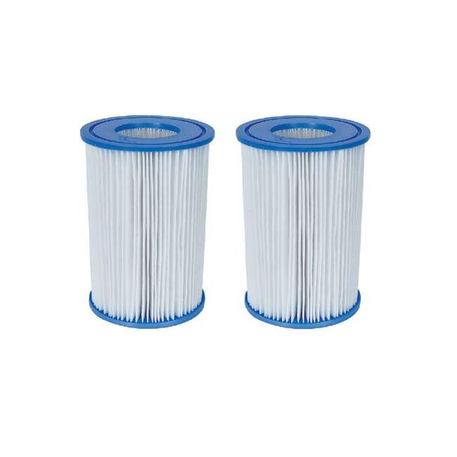 "58012E Bestway Swimming Pool Filter Pump Replacement 4.2""x8"" Cartridge (2 Pack)"