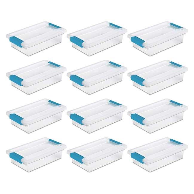 36 x 19698606 Sterilite Mini Clip Box Clear w/ Blue Aquarium Latches (36 Pack) 1