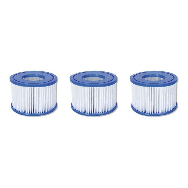 13804-BW + 3 x 90352E-BW + 45521A Bestway SaluSpa Hot Tub + Bromine Kit + Filter Cartridge (3 Pack) 4