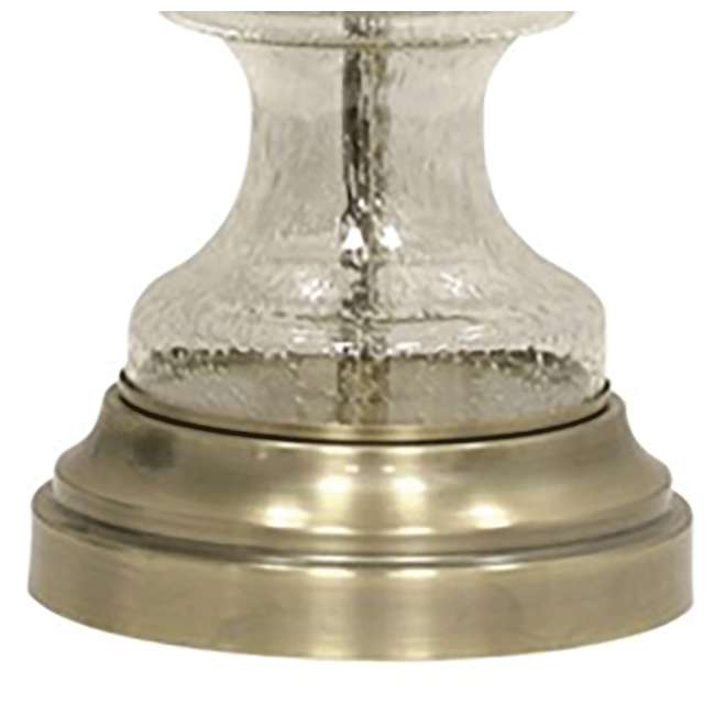 "SC-L313752-U-A Abode 84 33"" Clear Seeded Glass Metal Antique Transitional Table Lamp (Open Box) 4"
