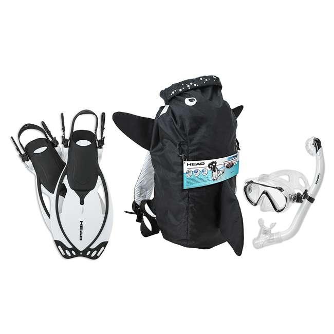 480315-SFORCLXL-U-B HEAD Sea Pals Jr. Kid's Orca Snorkeling Swim Set, Large/Extra Large (Used)