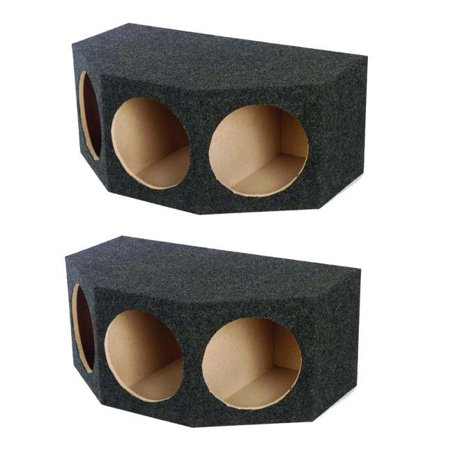 BASS12-3HOLE Q Power BASS12 3 Hole 12-Inch Sealed Subwoofer Enclosure Box | 35 x 20.25 x 15 (2 Pack)