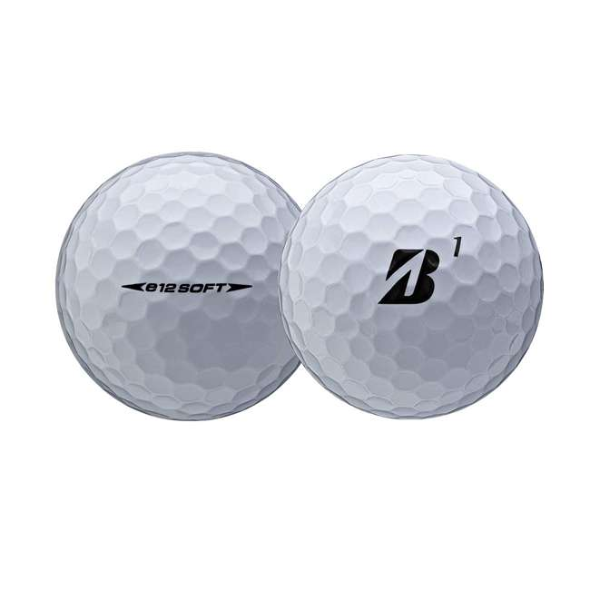 9CWX6D Bridgestone Golf e12 Soft 3-Piece Golf Balls, White 1