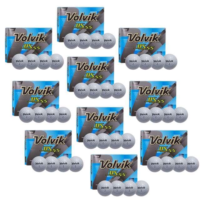 10 x DS-55 (White) Volvik DS55 Dual Spin Golf Balls, White (10 Packs of 12)