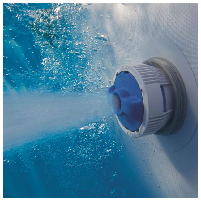 56655E-BW + 58422E-BW Bestway Power 16x10x3.5 Foot Above Ground Pool Set w/ Pump & Powercell Vacuum 10