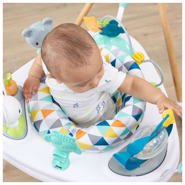 61912186 Evenflo 61912186 Exersaucer Woodland Wonder Baby Play Activity Center Jumper 1