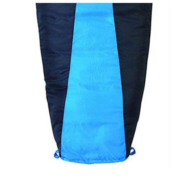 4 x 51723811RR Slumberjack Latitude 40-Degree Polyester Sleeping Bag, Blue (4 Pack) 2