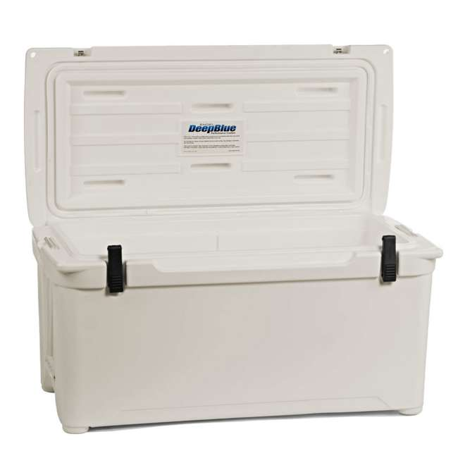 ENG85-CW-U-B Engel Coolers 76 Quart 96 Can Roto Molded Cooler, Coastal White (Used) 2