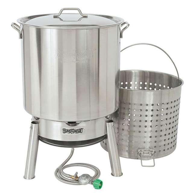 KDS-160 Bayou Classic KDS-160 60 Quart Stainless Boil Steamer Cooker and Basket Kit