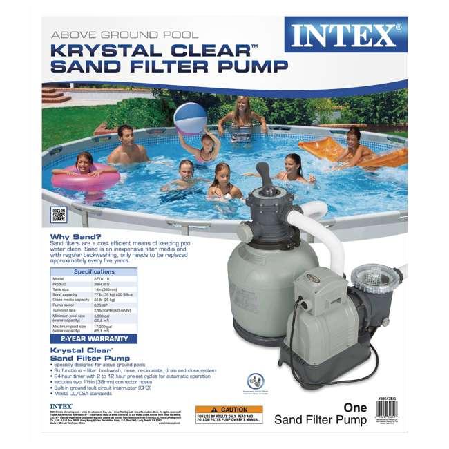 Intex krystal clear 2800 gph sand filter pump and - Salt water pumps for swimming pools ...