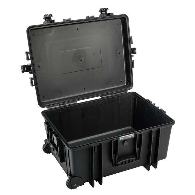 6800/B/RPD + CS/3000 B&W 70.9L Plastic Waterproof Case w/ Wheels, RPD Insert & Shoulder Strap, Black 1