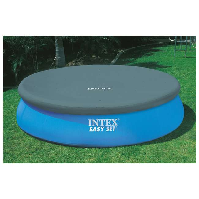 26175EH + QLC-42003 Intex 18 x 4 Foot Inflatable Easy Set Pool w/ Ladder, Pump, & Cleaning Kit 6