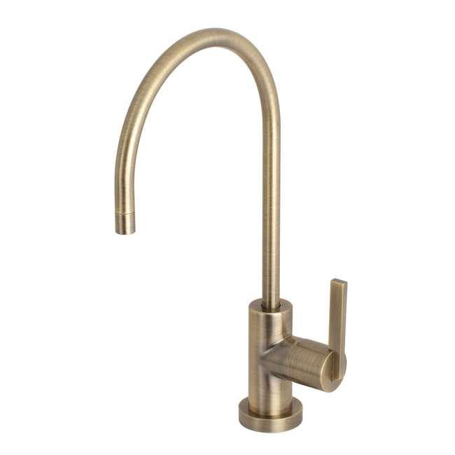 KS8193CTL Kingston Brass KS8193CTL 1/4 Turn Lever Water Filtration Faucet, Antique Brass