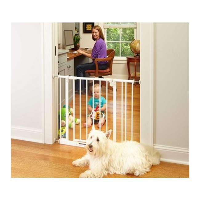 4910S North States Easy Close 28 to 38.5in Metal Baby Pet Gate(Open Box) (2 Pack) 3