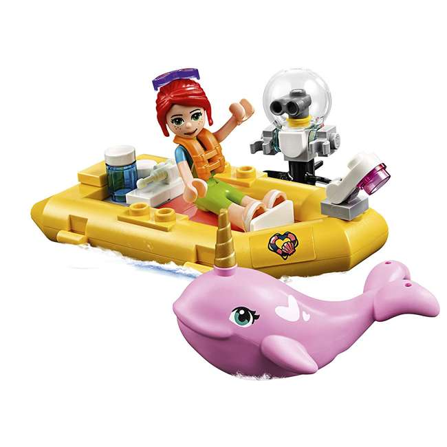 6251666 LEGO Friends Rescue Mission Boat 908 Piece Block Building Kit with 5 Minifigures 2