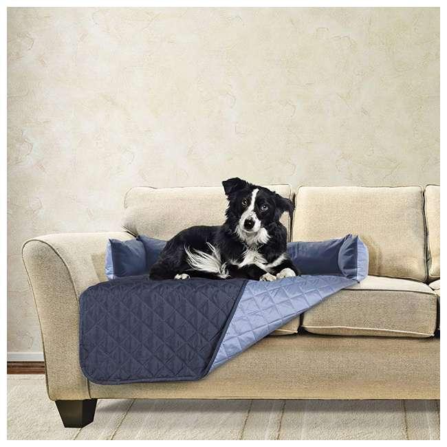 49301015-U-A Furhaven Sofa Buddy Furniture Cover, Medium, Navy and Blue (Open Box) 1