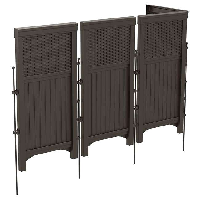 FSW4423 + DBW9200 Suncast Backyard Patio Screen Gate w/ Backyard Patio Garden Garage Wicker Resin 2