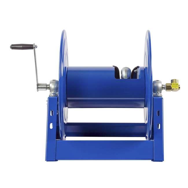 1125-4-100 Coxreels Steel Hand Crank Hose Reel 100 Foot Capacity, Blue 2