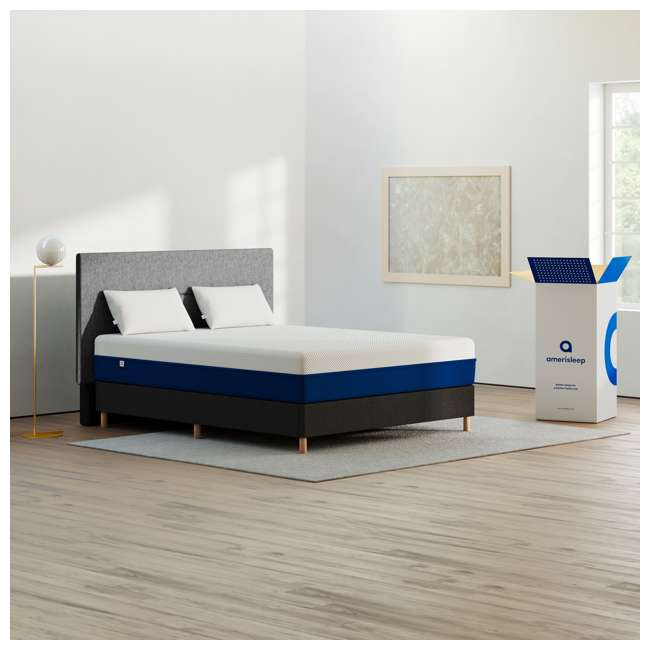 AS2-Q Amerisleep AS2 Back/Stomach Sleeper Medium Firm Memory Foam Bed Mattress, Queen 6